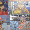 Mosaico Parque O'Higgins: las 4 reinas de Chile